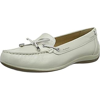 Mephisto NAOMI LIZ 2330 WHITE - mocasines de cuero mujer, color blanco, talla 40