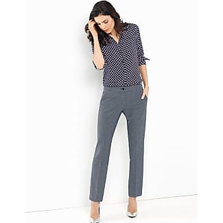Trousers with pressed pleats black female Gerry Weber