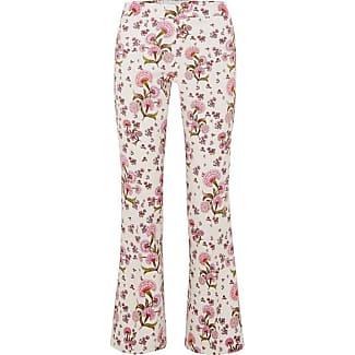 Floral-print Crepe Flared Pants - Ivory Giambattista Valli