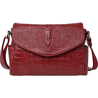 PU-Handtasche Handtaschen Einfache Schulter Messenger Bag Sammelpack Weihnachtsgeschenke,Red2-OneSize GKKXUE