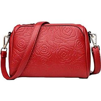 Messenger Bag Nylon Wasserdichte Frauen Tasche Reißverschluss Schultertasche,Black-OneSize GKKXUE
