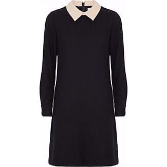 Goat Woman Wool-crepe Mini Dress Black Size 12 Goat