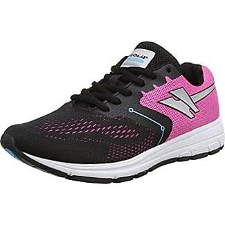 Vallis, Zapatillas de Running para Mujer, Negro (Black/Pink/Silver), 39 EU Gola