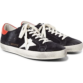 Sneakers for Men On Sale, Dark Midnight Blue, Suede leather, 2017, 8 Golden Goose