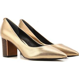 Zapatos de Tacón de Salón Baratos en Rebajas, Verde Esmeralda, Gamuza, 2017, 38 Guess