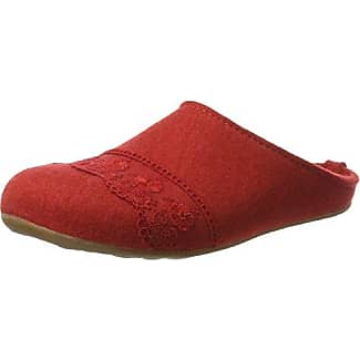 Walkpantoffel mit Fußbett Hohe Salve, Chaussons Mules Femme - Rouge - Rot (Rubin)Living Kitzbühel