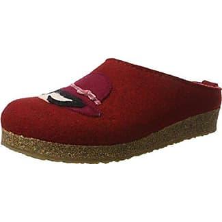 HaflingerClassic - Zuecos Mujer, Color Rojo, Talla 36