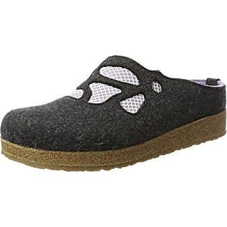 Haflinger Grizzly Michelle, Zapatillas de Estar por Casa para Mujer, Gris (Anthrazit 4), 41 EU
