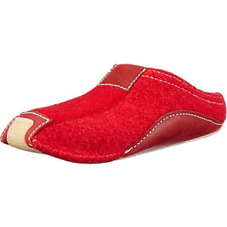 Pocahontas 411001 - Pantuflas de tela unisex, color rojo, talla 38 Haflinger