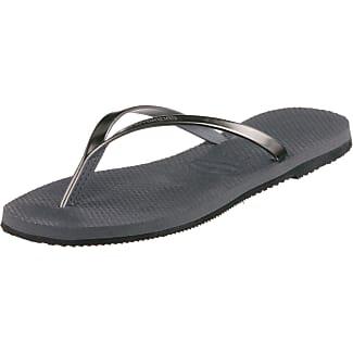 flip flop Damen Flipglam Zehentrenner, Grau (Light Grey), 42 EU