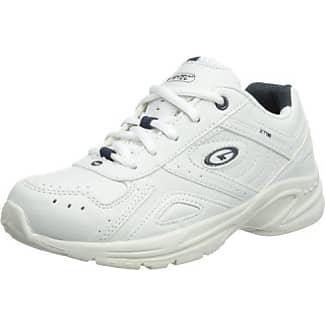 XL - Zapatillas de sintético para niño, color blanco, talla 2 UK