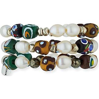 Hipchik Isa B Wooden Stacking Bracelets, Set of Three