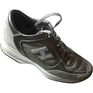 Pre-owned - Black Leather Trainers Hogan