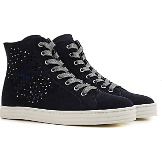 Sneakers for Women On Sale in Outlet, Blue Denim, suede, 2017, 2.5 Hogan