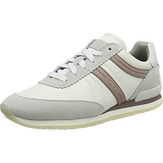HUGO Hackney Low Cut, Zapatillas Para Mujer, Blanco (Natural 102), 40 EU
