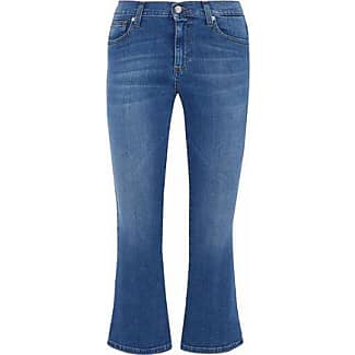 Iris & Ink Woman Addison Cropped Mid-rise Flared Jeans Mid Denim Size 28 IRIS & INK