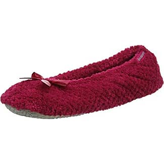 Crushed Velour Ballet Slippers, Chaussons Femme, Rose (Berry), 40 EUIsotoner