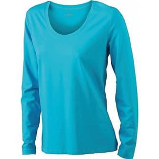 James & Nicholson Shirt Stretch Longsleeve - Camisa de maternidad Mujer, Turquesa (turquoise), XX-Large (Talla del fabricante: XX-Large)
