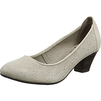 Jana 22305, Zapatos de Tacón Para Mujer, Beige (Sand Suede), 39 EU
