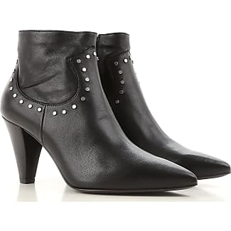 Boots for Women, Booties On Sale, Black, Leather, 2017, 3.5 4.5 5.5 6 6.5 7.5 8.5 Janet & Janet