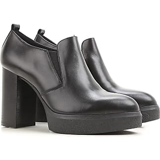 Boots for Women, Booties On Sale, Black, Leather, 2017, 5.5 7.5 Janet & Janet