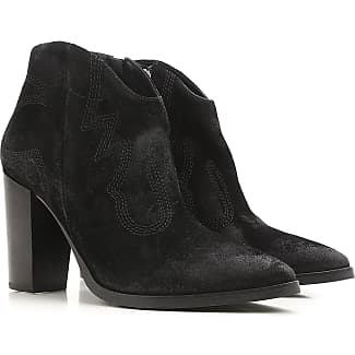 Boots for Women, Booties On Sale, Black, suede, 2017, 7.5 Janet & Janet