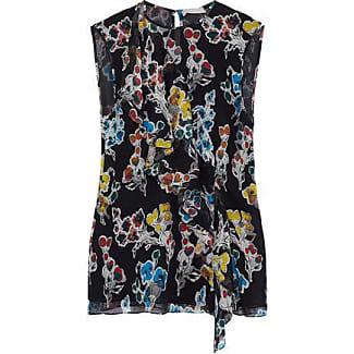 Jason Wu Woman Ruffled Floral-print Crinkled Silk-georgette Top Black Size 4 Jason Wu