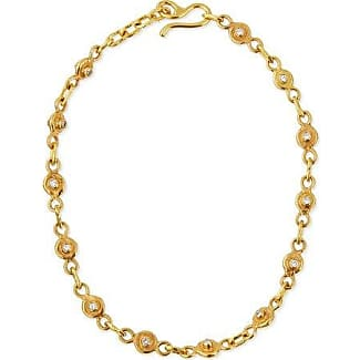Jean Mahie 22K Gold Ruby & Emerald Station Necklace