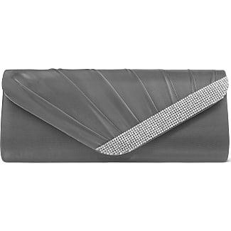Jessica McClintock Bags Irridescent Snake Minaudier Pewter - Handbags