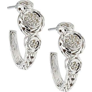 Alór Classique Gray Steel & 18k Diamond Twist Hoop Earrings