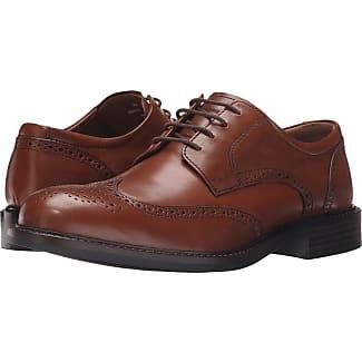 Johnston & Murphy Tabor Wingtip (Tan Calfskin) Mens Lace Up Wing Tip Shoes