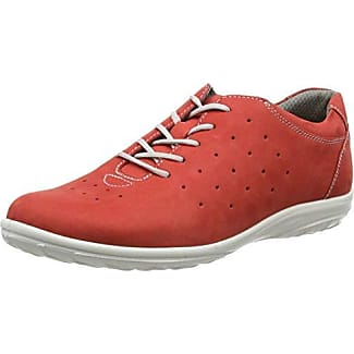 JomosAllegra - Zapatos Planos con Cordones Mujer, Color Rojo, Talla 42