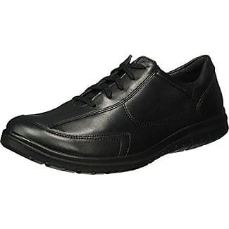 Jomos Marathon 455204-466-000 - Zapatos de cordones de cuero para hombre, color negro, talla 42