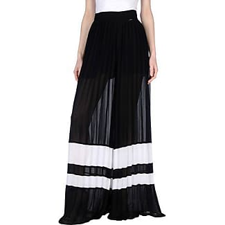 Just Cavalli Woman Metallic-trimmed Tiered Georgette Maxi Skirt Black Size 44 Just Cavalli