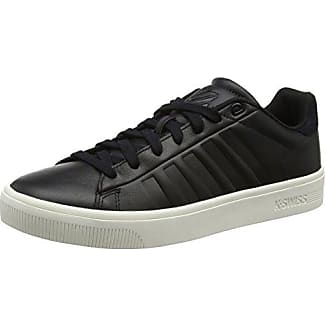 K-Swiss Clean Court CMF, Zapatillas Para Mujer, Negro (Black/Gray Marble), 39 EU
