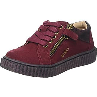 KickersKnitwear - Zapatillas Niñas, Rojo (Rouge (Bordeaux/Fuchsia)), 33 EU