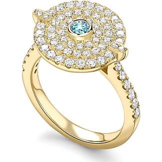 Kiki Mcdonough Fantasy Diamond Blue Topaz Disc Ring