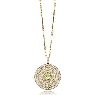 Kiki Mcdonough Fantasy Diamond Lemon Quartz Disc Necklace