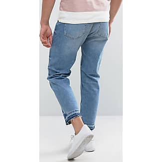 Jeans with Raw Hem in Relaxed Fit - Light wash Kiomi