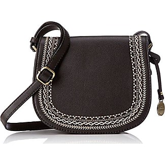 Budapest, Womens Cross-Body Bag, Schwarz, 5x25x25 cm (B x H T) L.Credi