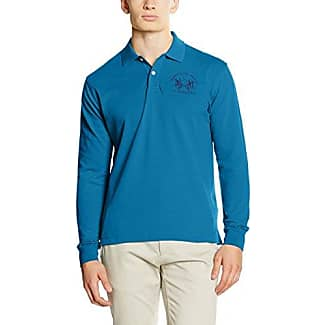 La Martina Man L/S Piquet Stretch, Polo Homme, Blau (Seaport 07149), XX-Large