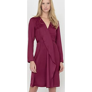 Vestito viola maniche lunghe