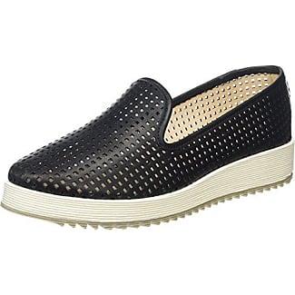 La Strada Schwarze Schlangen-Look Schnürschuhe - Brogues - Zapato Brogue de Material sintético Mujer, Color Negro, Talla 38