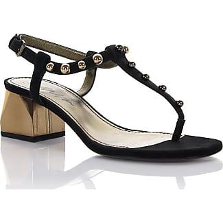 Sandals KIPA goatskin leather black pearls Lanvin