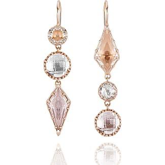 Larkspur & Hawk Sadie Double-Drop Earrings in Ballet & Copper Foil