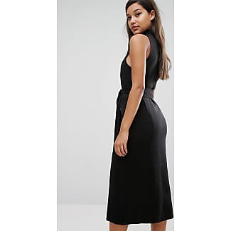 031a9499b04a5 Lavish Alice Keyhole Tie Belt Double Split Midi Dress - Black. Legg til  ønskelisten. De fedeste Rare London High Neck ...