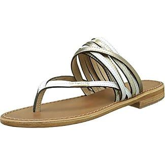 Les Tropéziennes 75100_Bronze - Sandalias de cuero para mujer, color marrón, talla 38