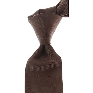 Ties On Sale, Dark Chocolate Brown, Silk, 2017, one size LIVERANO & LIVERANO