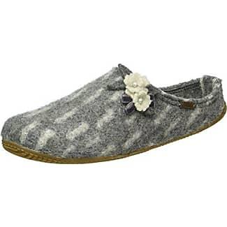 Pantoffel mit Schmuck und Fußbett - Pantuflas de lana mujer, color negro, talla 38 Living Kitzbühel