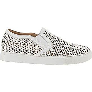 LOLA CRUZ Damen Slip-On Sneaker Cut-Out Off White, Größe 36